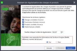 Sage 100cloud Comptabilité - Régularisation des charges et produits