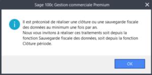 Sage 100cloud Gestion commerciale - Cloture période