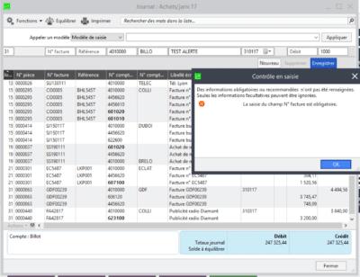 Sage 100c v3.10 - Gestion des contrôles en saisie 2