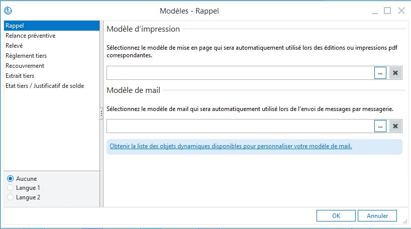 Modèles de documents et de mail