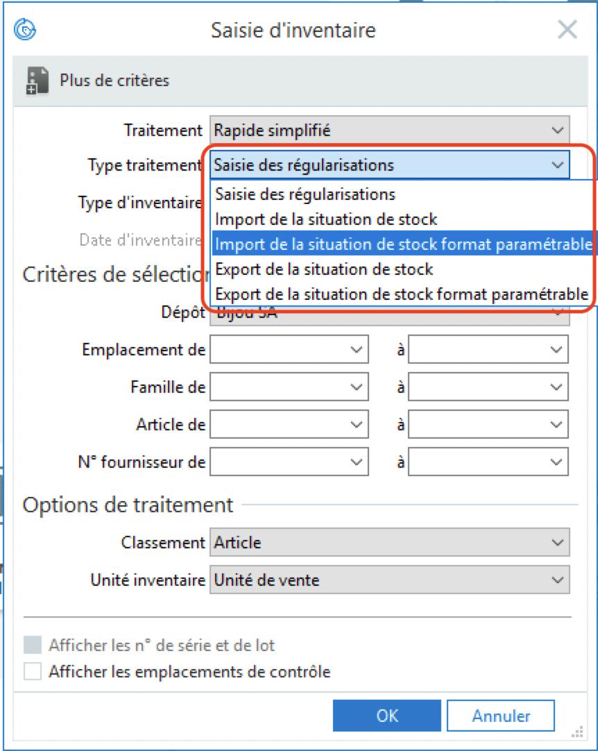 Sage 100cloud Gestion Commerciale - Import/ Export inventaire au format paramétrable