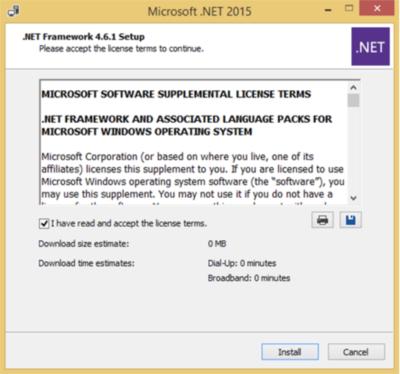 e-fakto - Installation #2 - Net Framework 4.6